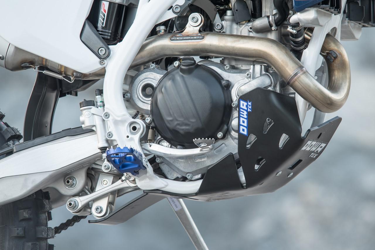 Shiwaki Motorrad Unterfahrschutz Motorschutzabdeckung F/ür Husqvarna